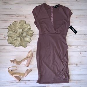 NWT LULUS Hollywood Ending Mauve Bodycon Dress